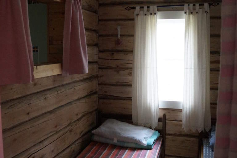 inside the holiday home in Reivo nature reserve: sleeping spot